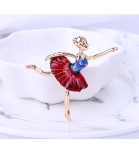 Balerina színes bizsu bross tű / kitűző