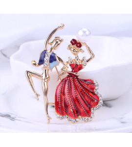 Flamenco színes bizsu bross tű / kitűző