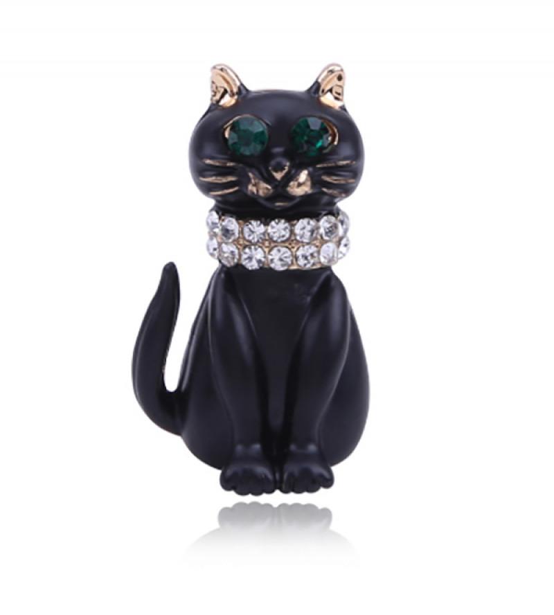 Cica / macska bizsu bross tű / kitűző