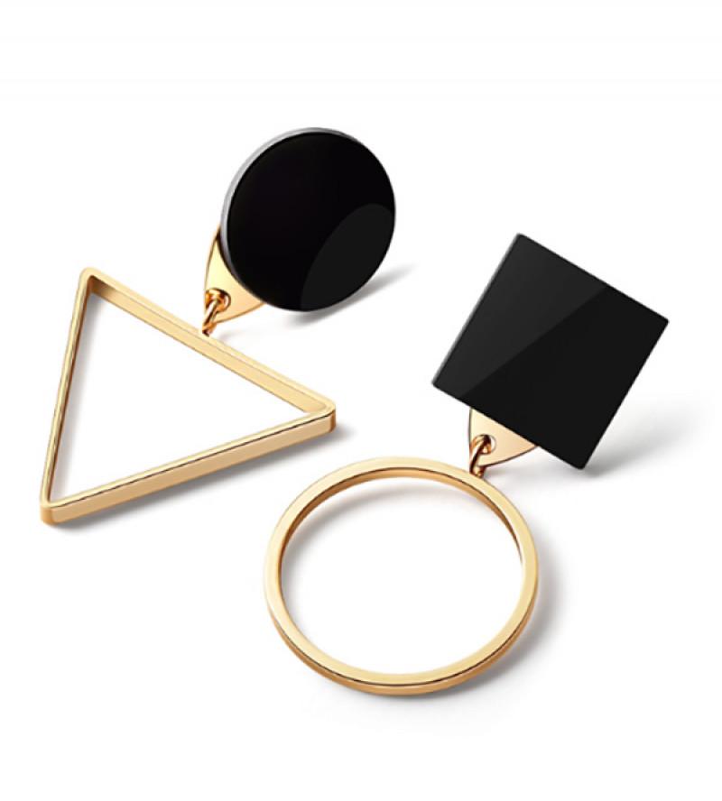 Lia geometriai mintás bizsu fülbevaló