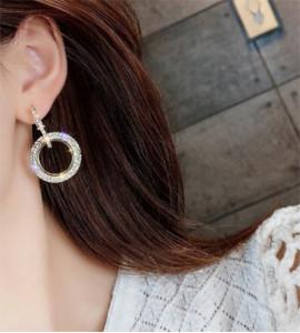 Luna csillogó bizsu karika fülbevaló