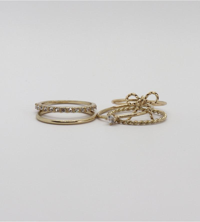 Rosina bizsu gyűrű szett