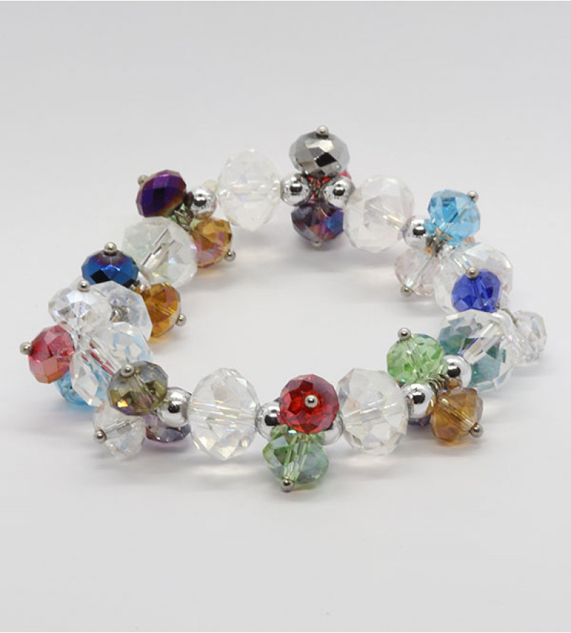Tiara bizsu kristály karkötő