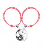 Jin Jang piros 2in1 páros karkötő