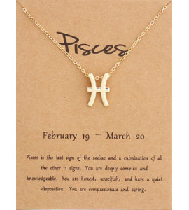 Horoszkóp nyaklánc HALAK