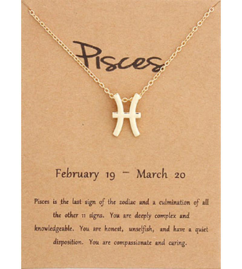 Horoszkóp bizsu nyaklánc HALAK