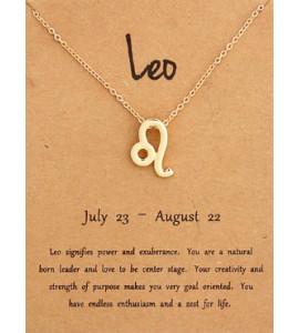 Horoszkóp bizsu nyaklánc OROSZLÁN