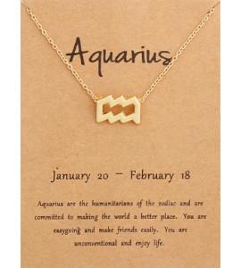 Horoszkóp bizsu nyaklánc VÍZÖNTŐ