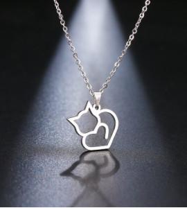 Valetta cicás / macskás bizsu nyaklánc
