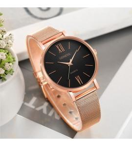 Geneva rosé arany fém szíjas óra