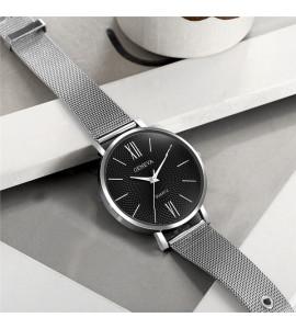 Geneva ezüst fém szíjas óra
