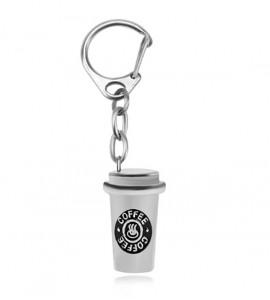 Café bizsu kávés nyaklánc, kulcstartó szett