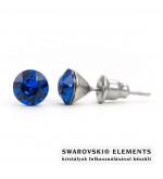 925 ezüst fülbevaló ékszer Swarovski® kristállyal - Capri Blue
