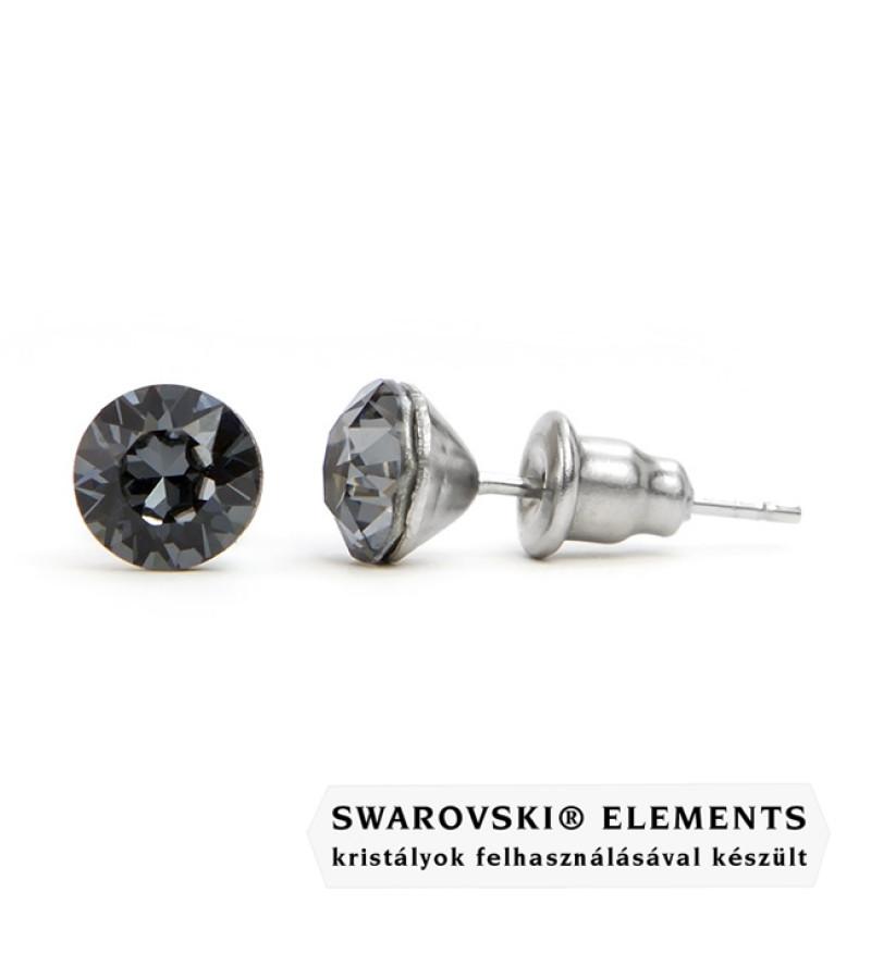 925 ezüst fülbevaló ékszer Swarovski® kristállyal - Silver Night