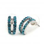 Amita Swarovski kristályos fülbevaló - Kék