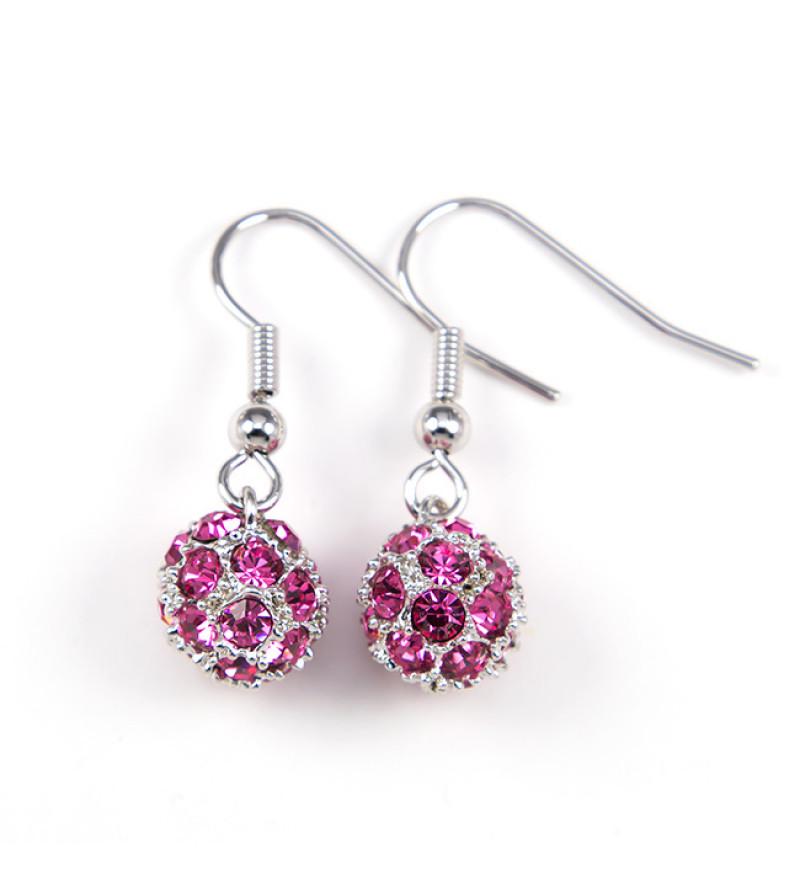Berry Swarovski kristályos fülbevaló - Pink