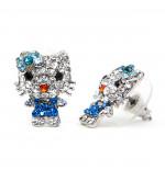 Cicás Swarovski kristályos fülbevaló - Kék