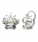 Closie Swarovski kristályos pillangó formájú fülbevaló