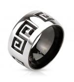 11 mm - Kivágott görög mintás nemesacél karikagyűrű-6
