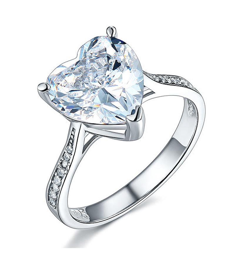 3.5 karátos ezüst gyémánt gyűrű