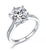 3 karátos ezüst gyémánt gyűrű-5