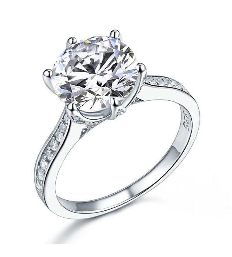 3 karátos ezüst gyémánt gyűrű-6