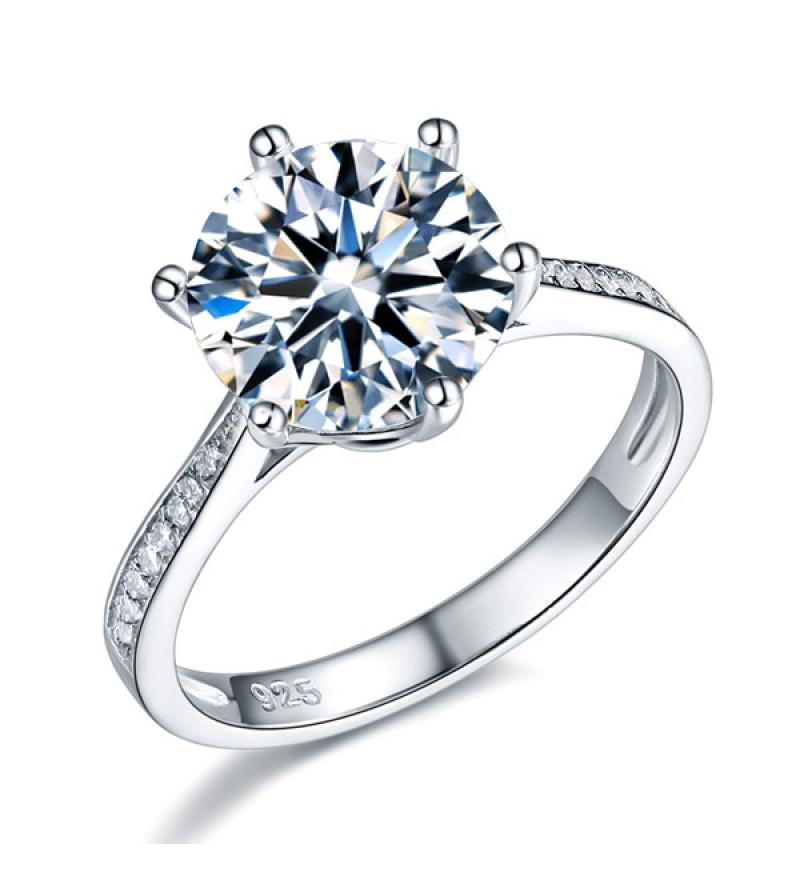 3 karátos ezüst gyémánt gyűrű-7