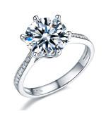 3 karátos ezüst gyémánt gyűrű-9