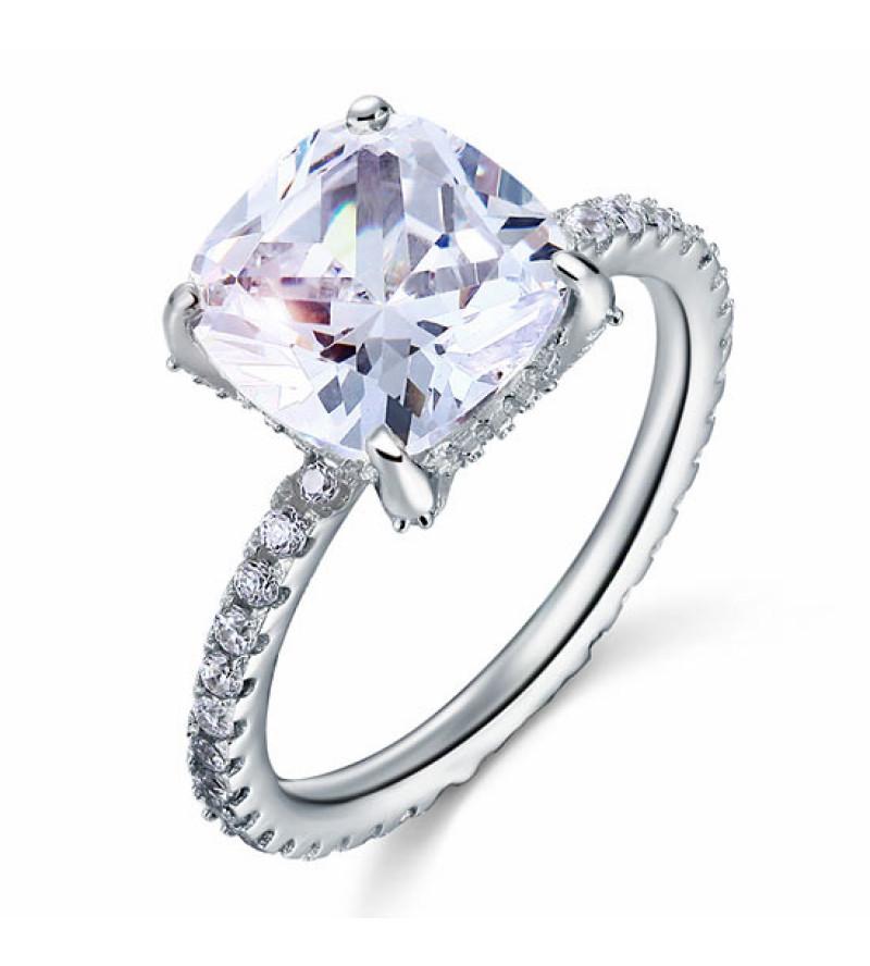 5 karátos ezüst gyémánt gyűrű