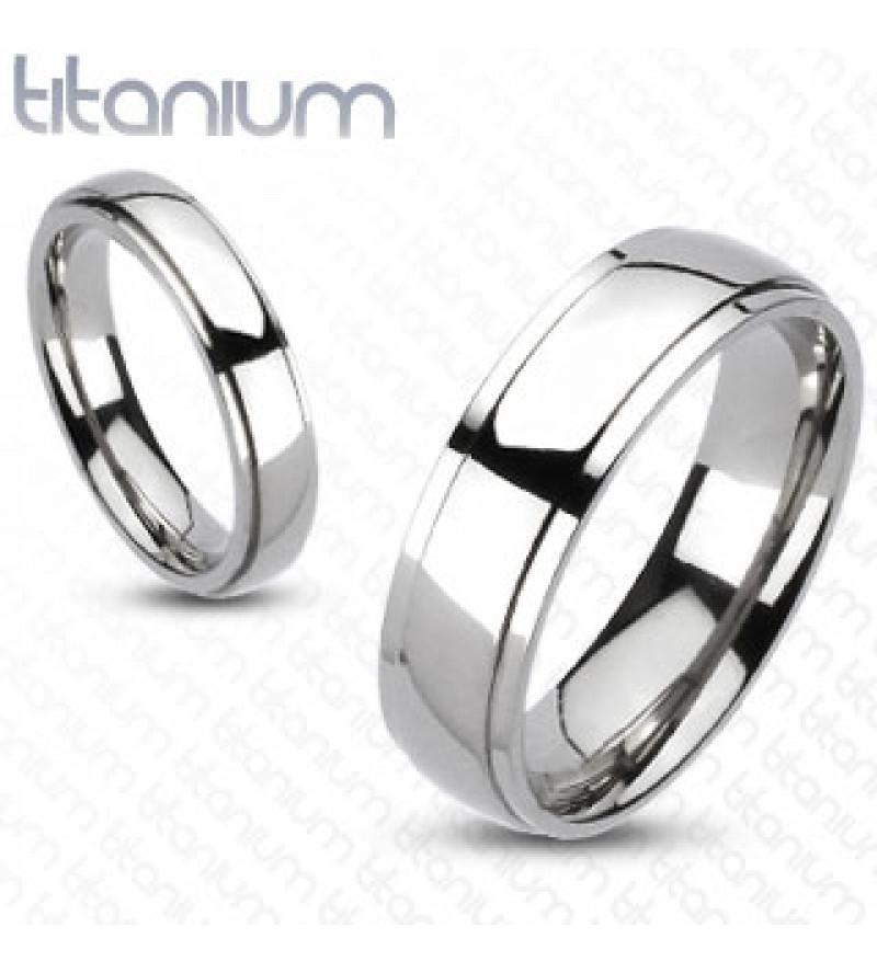 6 mm - Ezüst színű, fényes nemesacél gyűrű ékszer