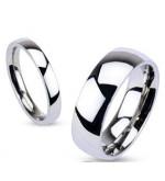 6 mm - Ezüst színű, tükörfényes nemesacél gyűrű