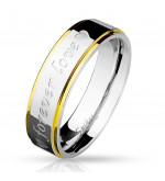 6 mm - Forever love - feliratos nemesacél karikagyűrű-11