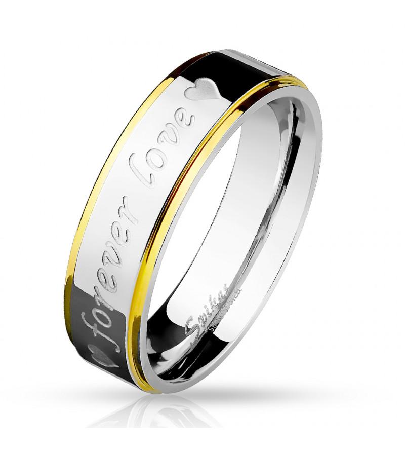 6 mm - Forever love - feliratos nemesacél karikagyűrű-5