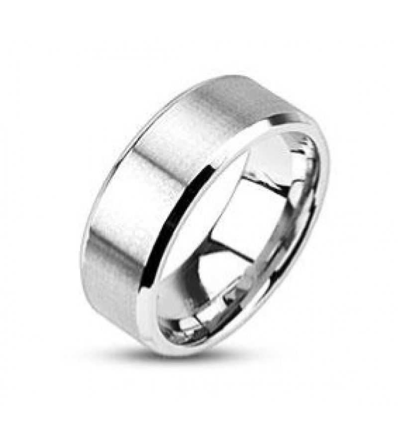 6 mm - Matt, ezüst színű nemesacél gyűrű ékszer