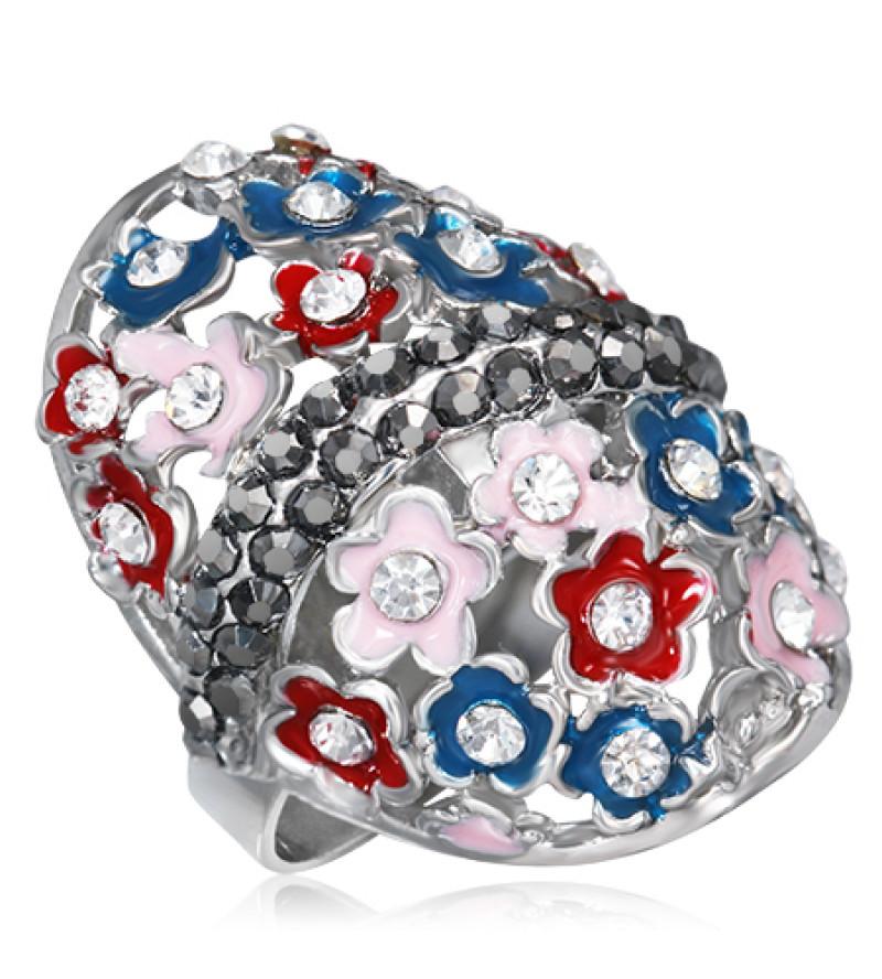 Állítható, cirkónia kristályos gyűrű ékszer