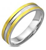 Arany és ezüst színű nemesacél gyűrű ékszer