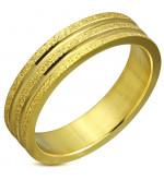 Arany színű, két tónusú nemesacél gyűrű-11