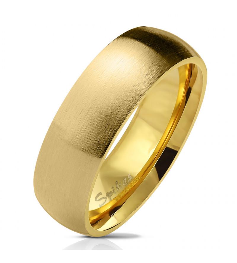 Arany színű, matt felületű nemesacél gyűrű-11