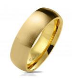 Arany színű, matt felületű nemesacél gyűrű-12