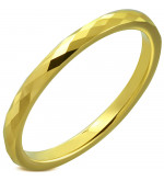 Arany színű, mintás nemesacél karikagyűrű-8