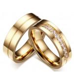 Arany színű nemesacél gyűrű-8 férfi változat