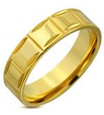 Arany színű nemesacél gyűrű ékszer