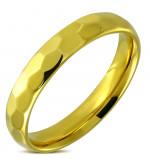 Arany színű nemesacél gyűrű ékszer-6
