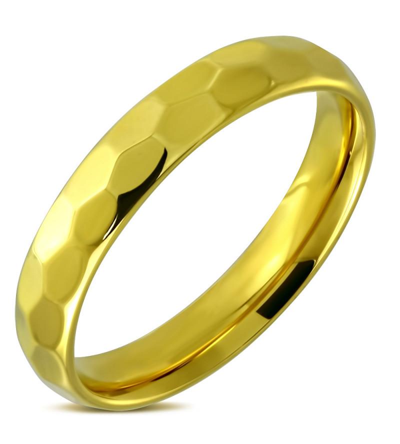Arany színű nemesacél gyűrű ékszer-9