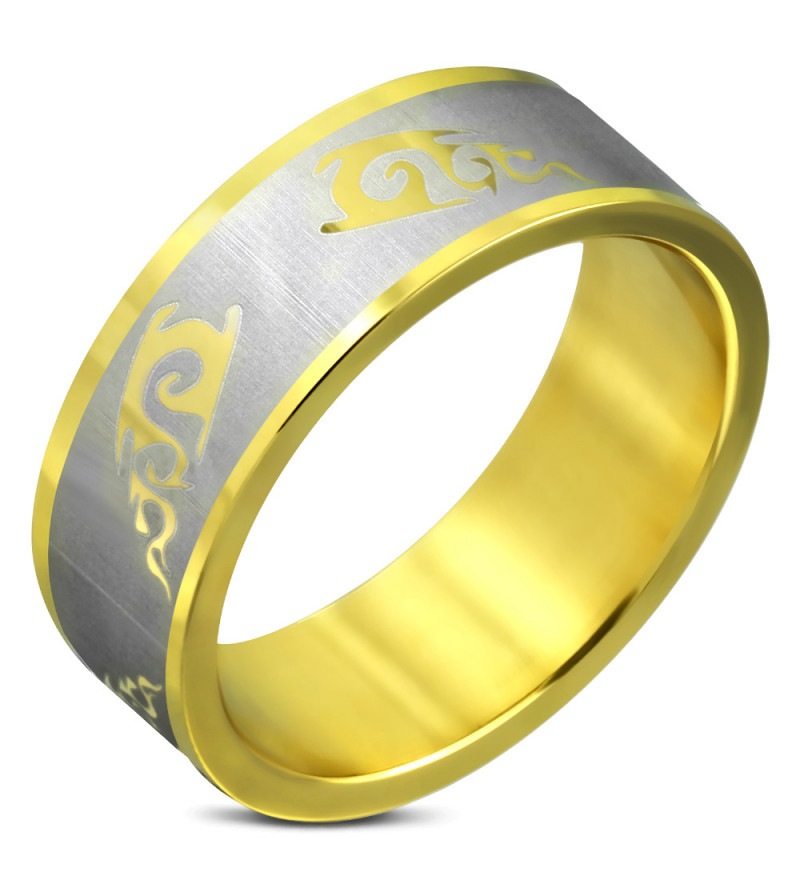 Arany színű nemesacél gyűrű, karikagyűrű ékszer
