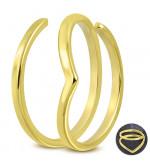 Arany színű, spirál formájú nemesacél gyűrű-6