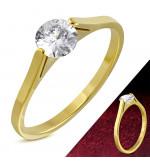 Até - Arany színű nemesacél gyűrű ékszer, cirkónia kristállyal-8