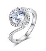 Csavart formájú ezüst gyűrű