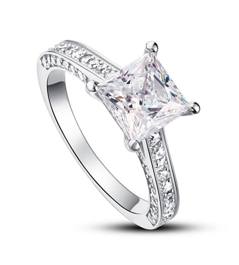Ezüst gyémánt gyűrű