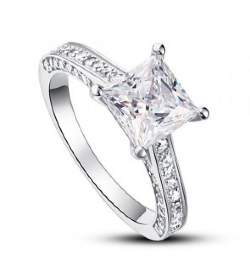Ezüst gyémánt gyűrű-7